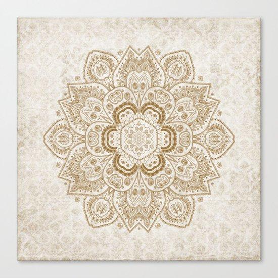 Mandala Temptation in Cream Canvas Print