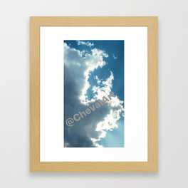 Hiding Sun Framed Art Print