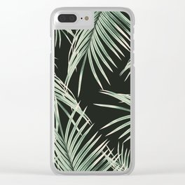 Green Palm Leaves Dream #1 #tropical #decor #art #society6 Clear iPhone Case