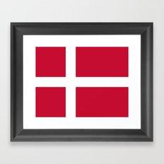 Flag of Denmark Framed Art Print