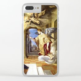 "El Greco (Domenikos Theotokopoulos) ""The Annunciation (1570)"" Clear iPhone Case"