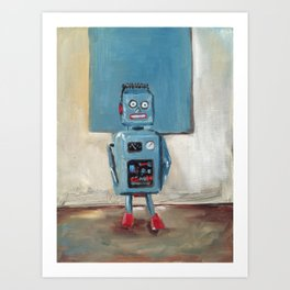 Color Match Bot Art Print