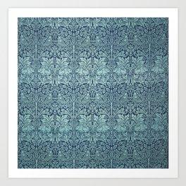 Morris Brer Rabbit Blue Art Print