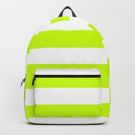 Electric lime - solid color - white stripes pattern Backpack