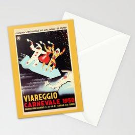 Vintage Viareggio carnival Italian travel ad  Stationery Cards