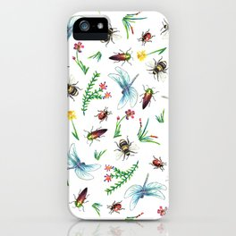 Insect Garden iPhone Case