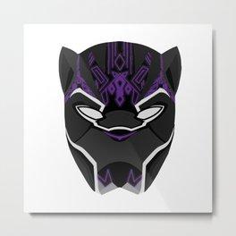Black Panther mask Metal Print