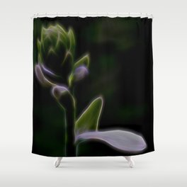 Electric Bud Shower Curtain