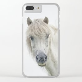 Horse eyes look at you Clear iPhone Case