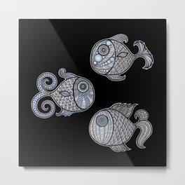 3 Fantasy Fish Metal Print