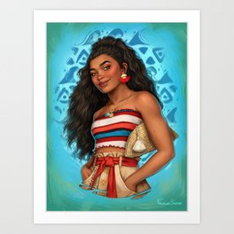 Moana Art Print