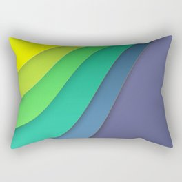 Colorful paper for background Rectangular Pillow