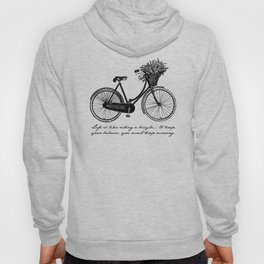 Albert Einstein - Life is Like Riding a Bicycle Hoody