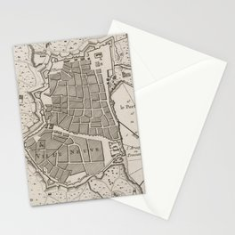 Vintage Map of Barcelona Spain (1764) Stationery Cards