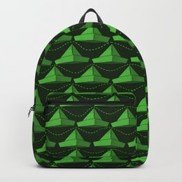 Paper Hats Pattern | Green Backpack