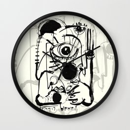 Staring Into Infinity Wall Clock