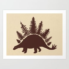 Stegoforest  Art Print