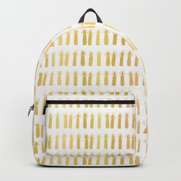 Luxe Gold Light a Candle Pattern, Hand Drawn Seamless Vector Illustration Backpack