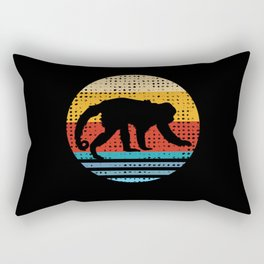 Retro Monkeys Monkey Lovers Gift Rectangular Pillow