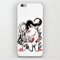 okami iPhone & iPod Skins featuring Chibi Amaterasu Okami I by Rubis Firenos