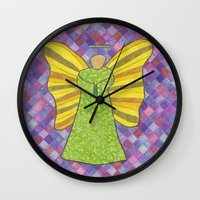 military Wall Clocks featuring Military Angel by GT6673