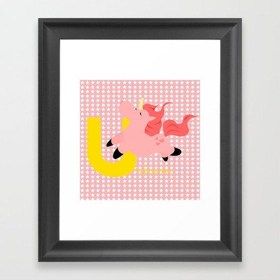 u for unicorn Framed Art Print