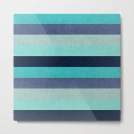 the blue stripes Metal Print