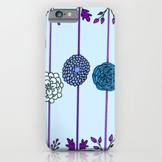 Garden Flowers Illustration - in Blues iPhone 6s Slim Case
