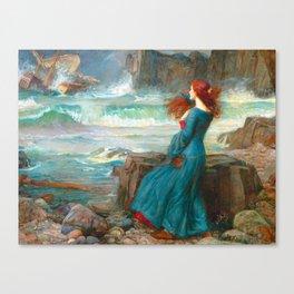"John William Waterhouse ""Miranda - The tempest"" Canvas Print"