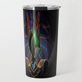 Art Deco Flower Travel Mug