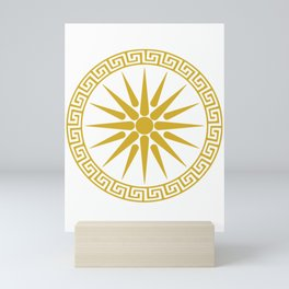 Vergina Sun Macedonian Star Argead Ancient Greek Pride Mini Art Print