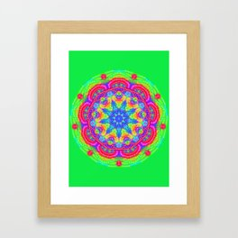 Amazing Day Neon Mandala Framed Art Print