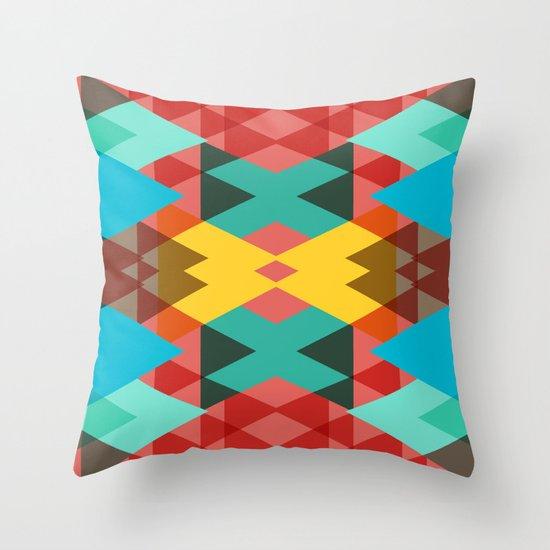 Geometric Crazy 3D Throw Pillow