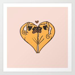 Stretching and Love Art Print