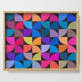 Colorful geometric Serving Tray