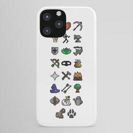 Old School Runescape Skills iPhone Case
