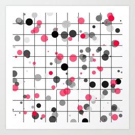 Spotted geometric pattern Art Print