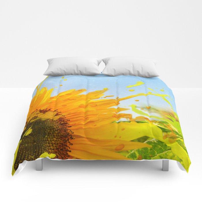 Splashing Sunflower Comforters