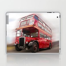 Old Red London Bus Vintage transport Laptop & iPad Skin