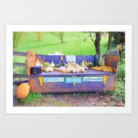 October Bench Art Print