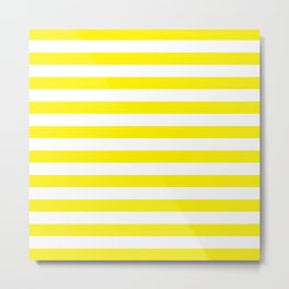 Horizontal Yellow Stripes Metal Print