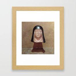 Nun Head Framed Art Print