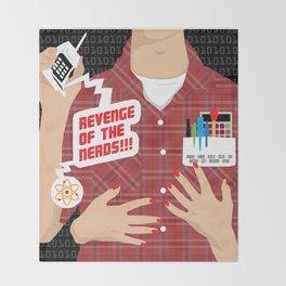 80s TEEN MOVIES :: REVENGE OF THE NERDS Throw Blanket