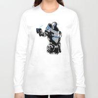 garrus Long Sleeve T-shirts featuring Garrus Vakarian by Logan Niblock