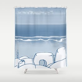 In Paradise Labyrinth Andre Bloc Shower Curtain