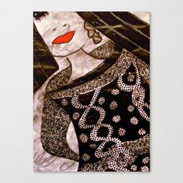 Miss Comfort tetkaART Canvas Print