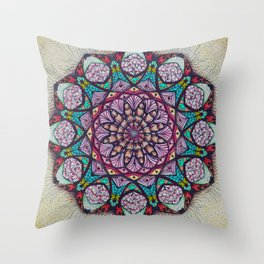 Creation Mandala - מנדלה בריאה Throw Pillow