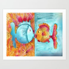Fish Kiss Art Print