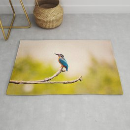 Kingfisher on the Branch Rug