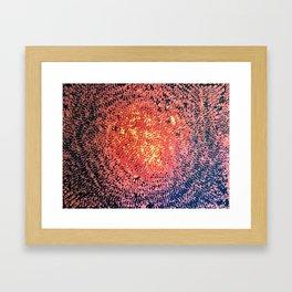 Lava Bits Framed Art Print